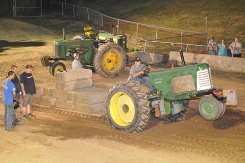 4H tractor pull at the Fairgrounds