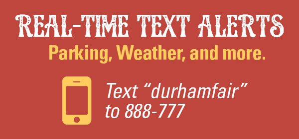 "Text ""durhamfair"" to 888-777"
